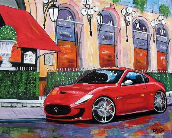 Maserati Sports Car Huge Contemporary Modern Original by danbyl