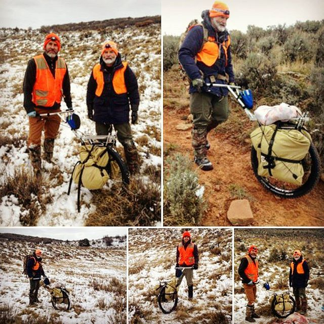 #wapitiwednesday with Malcolm hunting cow elk in Colorado. The Pack Wheel works great on cow elk hunts as it is ultra-light and collapsible making it easy to carry with you during the hunt. #packwheel #diyhunting #elkhunting #gamecarts #biggamehunting #hunting #outdoorlife #outdoors #getoutdoors #getoutside #packout #thepackout #comeoutheavy #huntcolorado #coloradohunt #coloradoelkhunt #10kpackout