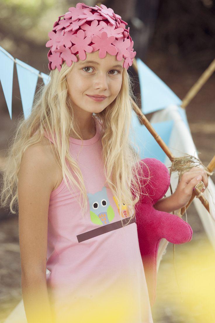Vestido playero owls colecci n de ba o lourdes kids 2015 - Banos de moda ...