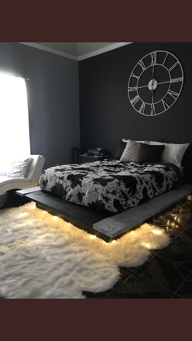 Black And Grey Bedroom Aesthetic