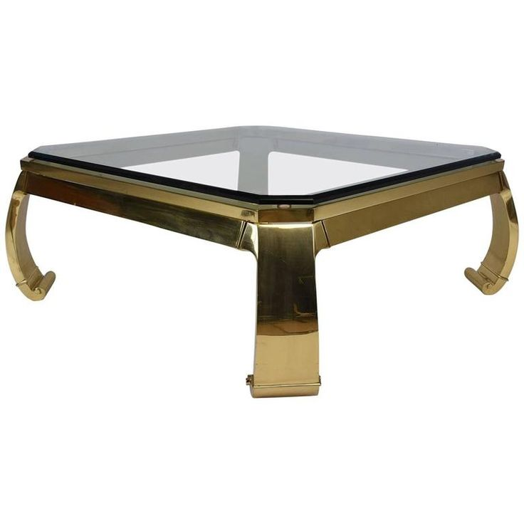 Hollywood Regency Brass Coffee Table by Mastercraft For Sale