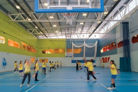 Dunraven Secondary School Sports Hall, London, UK -  built out of shipping containers!
