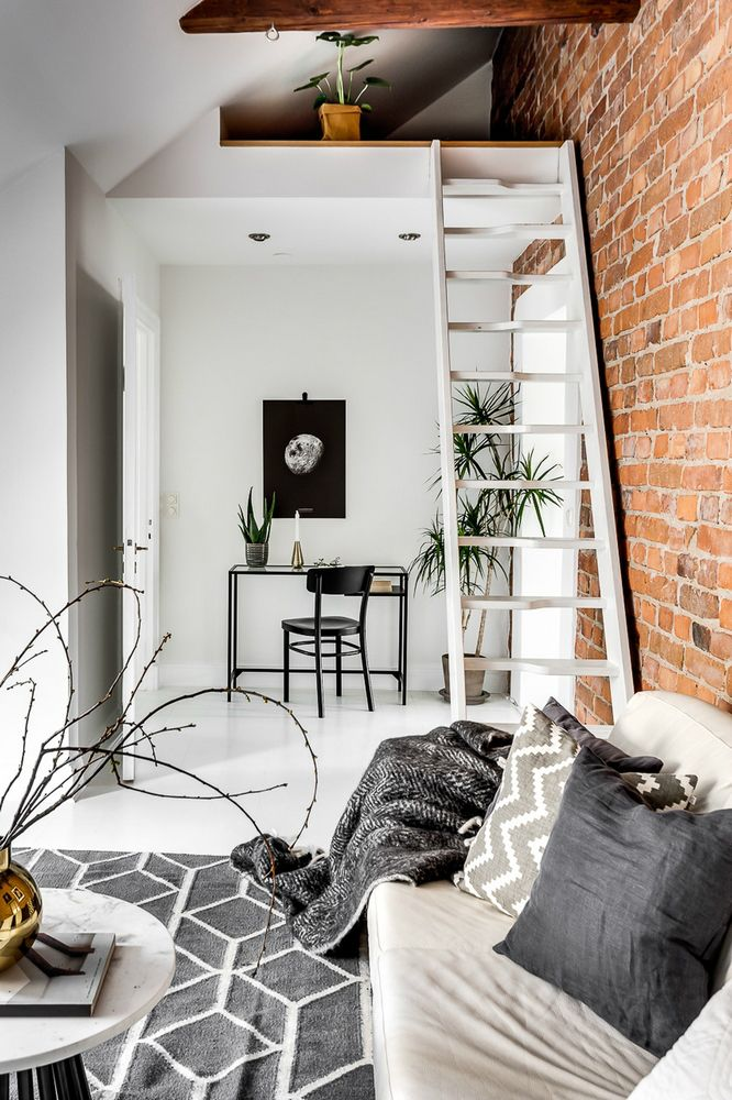 modern Scandinavian attic interior design 10