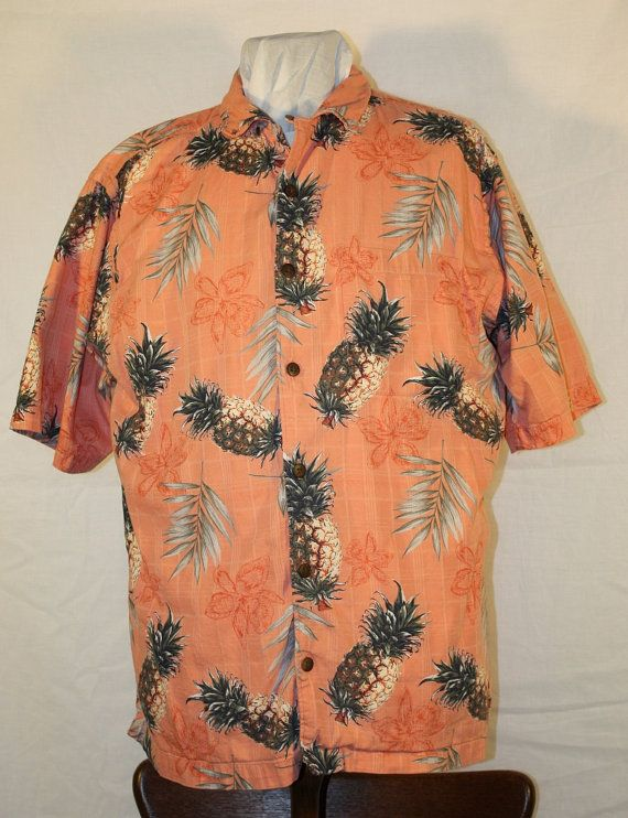 Vintage Men's Hawiian Shirt by Palm Island by ilovevintagestuff