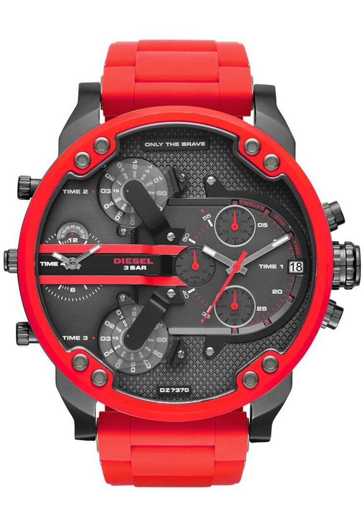 Diesel LG RD GUN RED BR Zegarek chronograficzny grau ip/rot