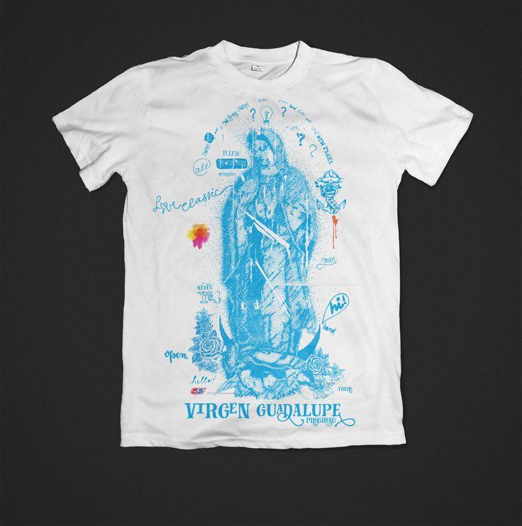 Virgen Guadalupe composición basada en vectores y gran variedad de puntos cualquier tamaño