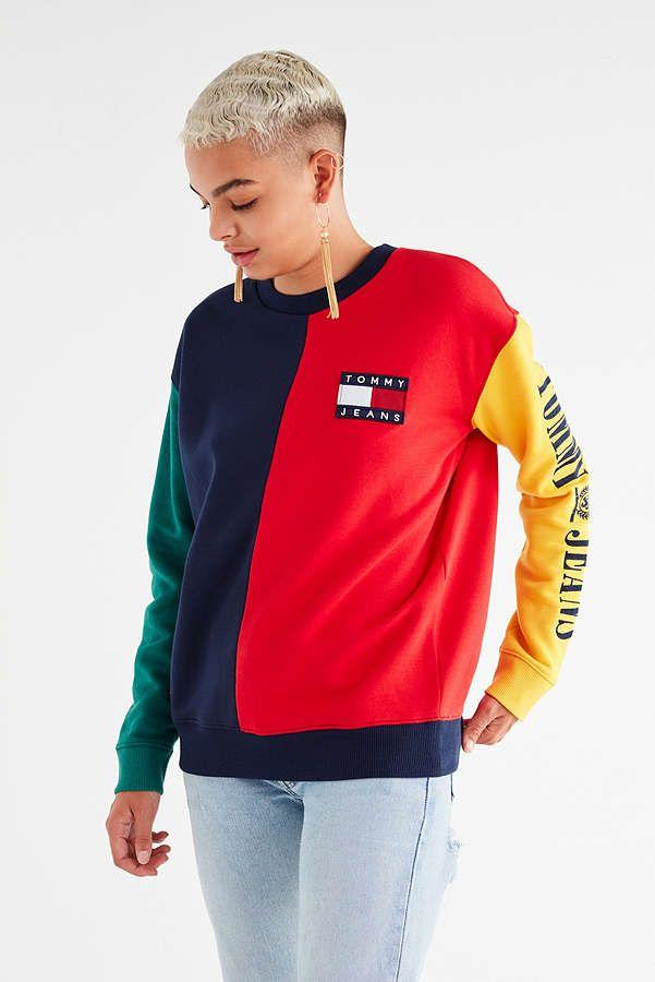 49428091f71 Slide View: 3: Tommy Jeans '90s Colorblock Sweatshirt   Wishlist ...