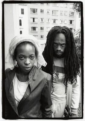 Black Uhuru's Puma Jones with Michael Rose.