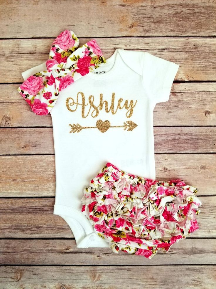 Rose Floral Baby Girl Outfit