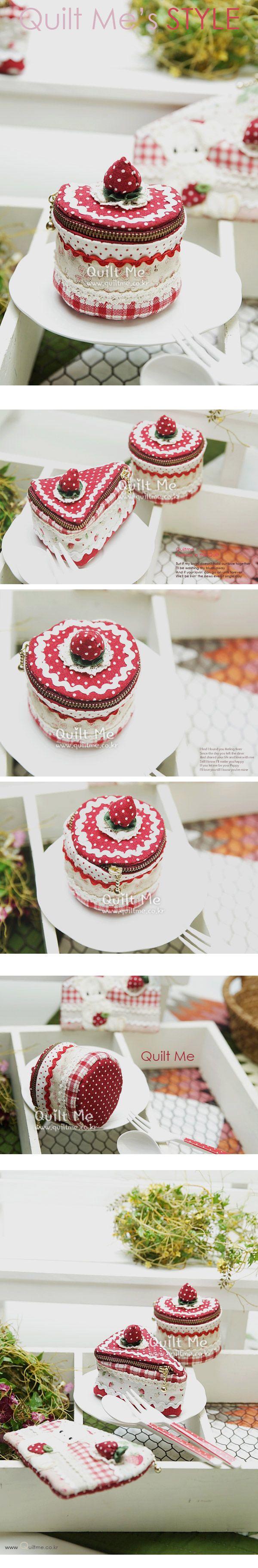 퀼트미 [딸기푸딩 케이크 동전지갑]