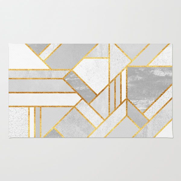 Gold City rug by Elisabeth Fredriksson