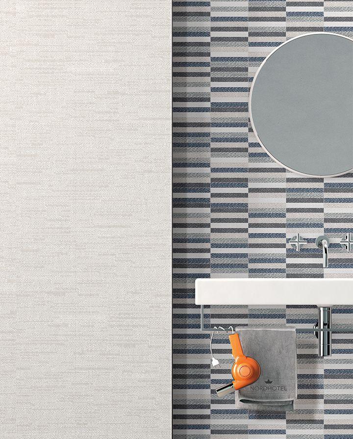Ceramic fabric effect: Digitalart by Ceramica Sant'Agostino