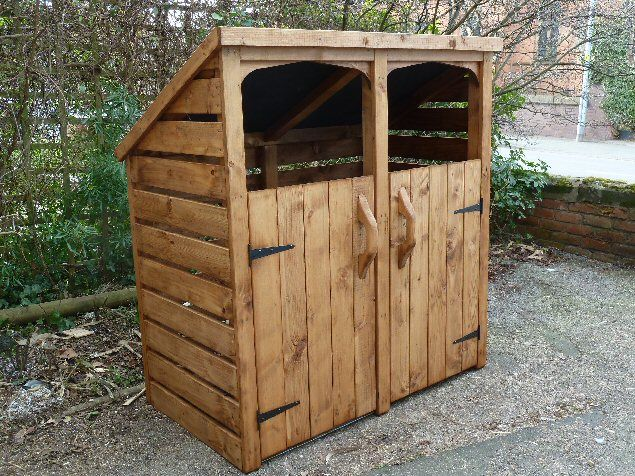 Double Wheelie Bin Store Including full construction and a choice of colour treatment.
