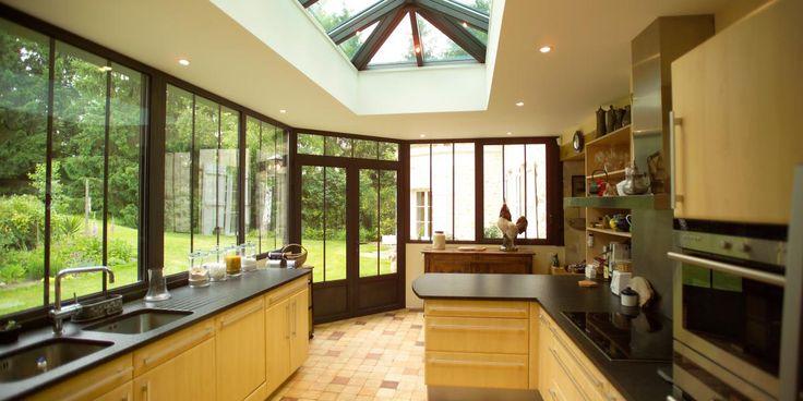 37 best images about extension la maison s 39 agrandit on pinterest - Cuisine dans veranda ...