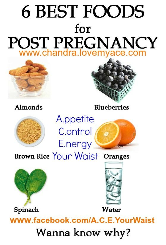 6 Best Foods for POST Pregnancy