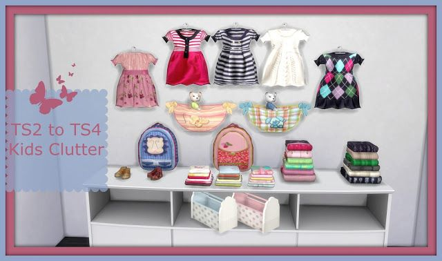 Sims 4 - TS2 to TS4 Suza Kids Clutter