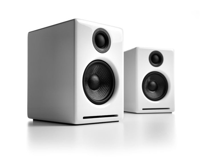 Audioengine A2+ Powered Desktop Speakers, White