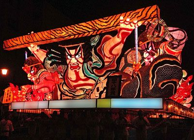 青森ねぶた祭(2015年)で発表された「三升景清 分身不動」