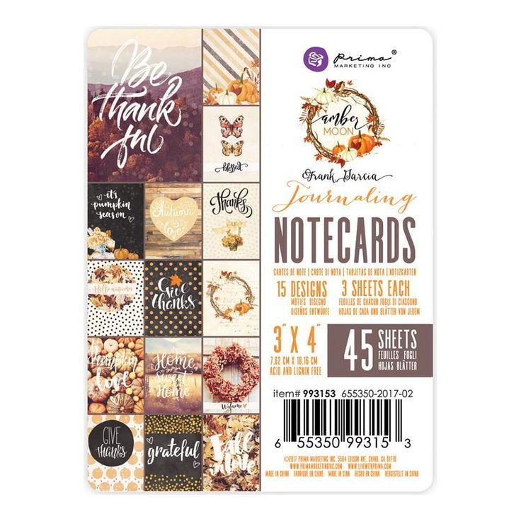 Amber Moon 3x4 Journaling Notecards Prima Marketing 993153
