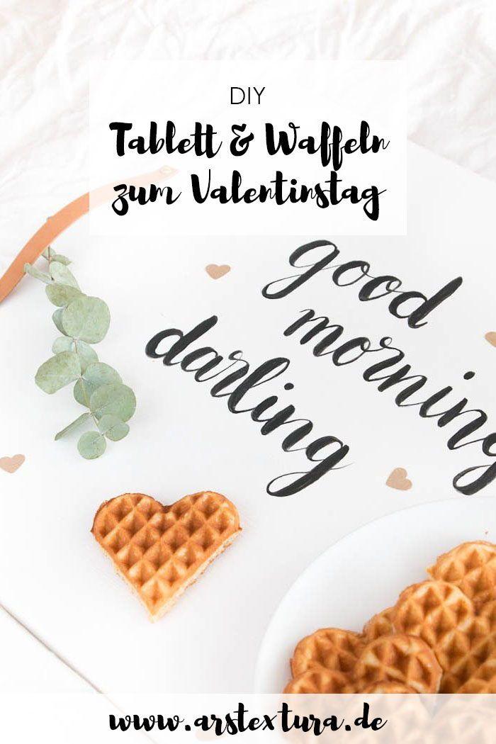 Ein DIY Tablett zum Valentinstag – perfekt fürs Frühstück im Bett
