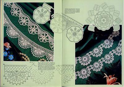 Spitze Häkeln - crochet lace border
