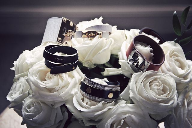 My fabulous Hermes, Celine, and Balenciaga bracelets were perfect for those beautiful roses in my bedroom at Le Meurice.