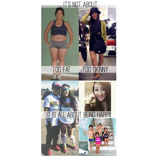 It's not about being TOO FAT or TOO SKINNY  It's all about being HAPPY