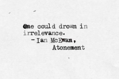 And drowning is such a miserable way to die.