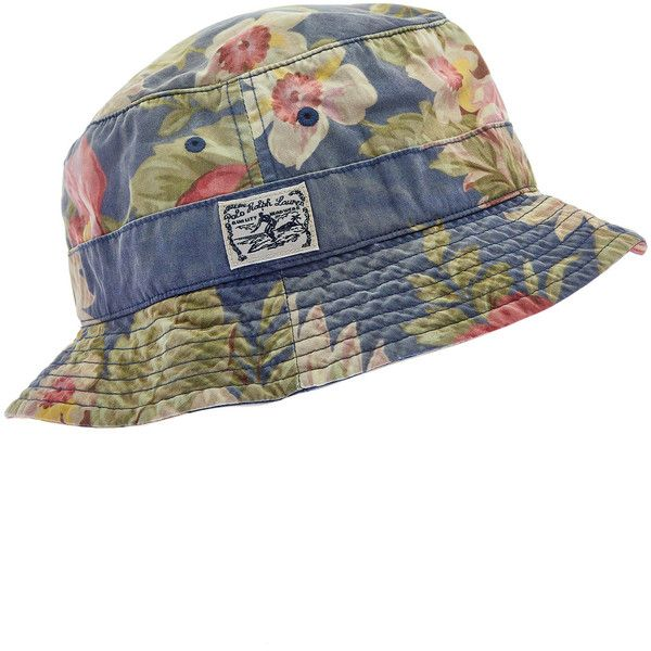 Polo Ralph Lauren Accessories Blue Hawaiian Print Bucket Hat (1.263.355 VND) ❤ liked on Polyvore featuring accessories, hats, head, blue bucket hat, hawaiian bucket hat, floral crown, bucket hat and fishing hat