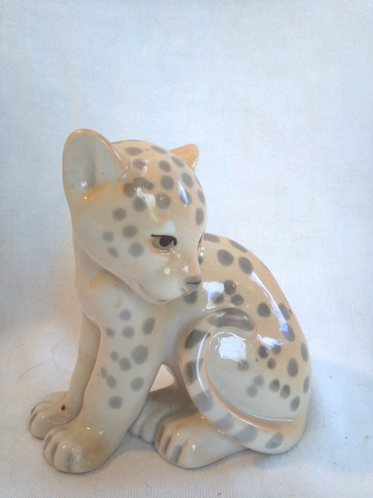 Baby Cheetah or Leopard Cub   Vintage USSR factory mark    $50