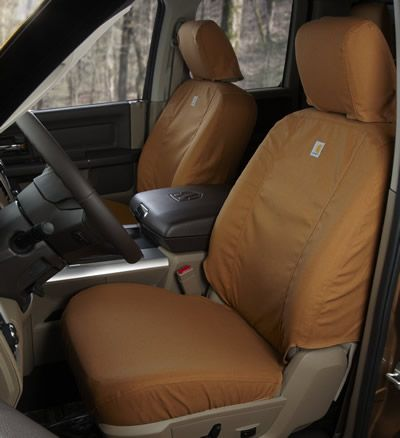 Carhartt Custom Seat Savers In Carhartt Brown and Gravel.