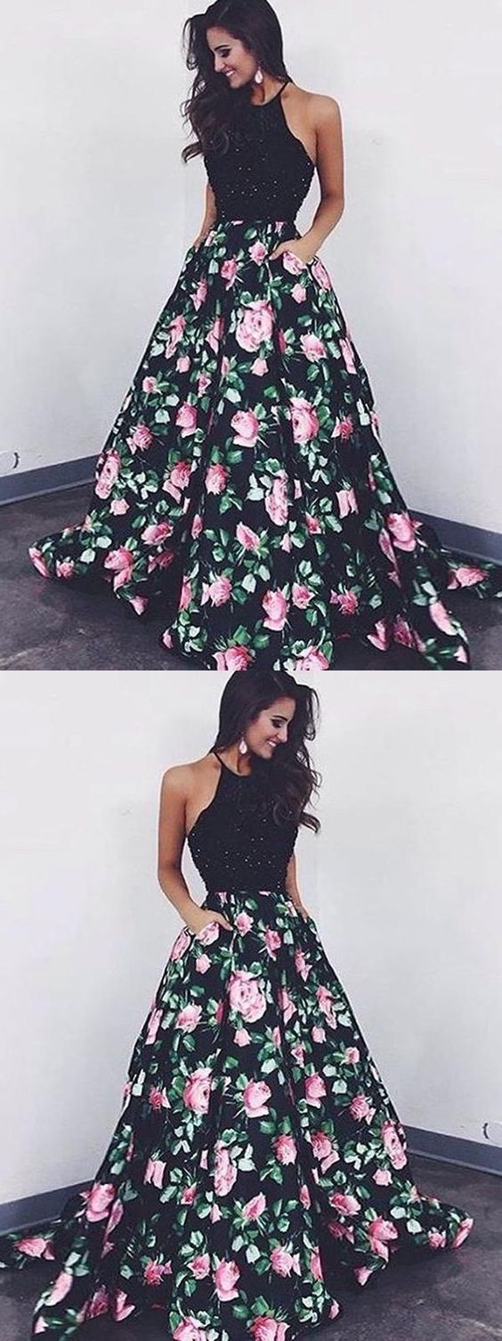 Prom Dresses Long, Black Prom Dresses, Beautiful Prom Dresses, A-Line Prom Dress