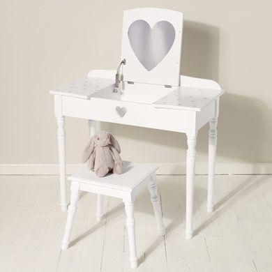 Maisie Dressing Table Amp Stool Set White Dressing