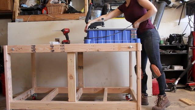 Double Ended Flip Top Workbench Plans Video Tutorial Workbench Plans Workbench Workbench Organization