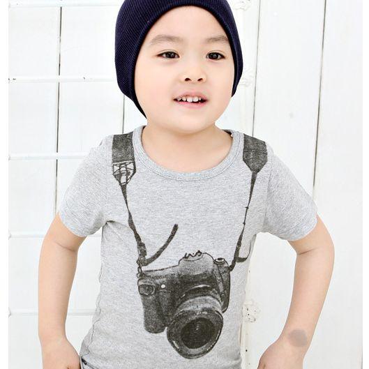 Grey Camera T-Shirt