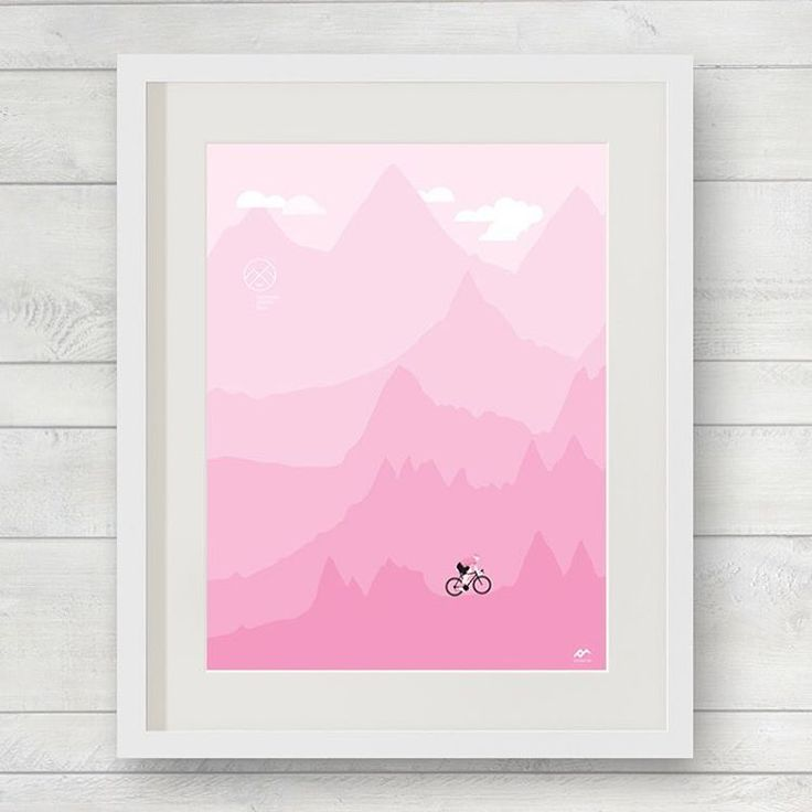 """VelopostersHQ su Instagram: """"Back by popular demand. The Grand Tour Series utilising the main mountain stage profiles as the mountains - Boost your giro excitement with some #italian #walllove #pink - #veloposters #weareveloposters #walllove #cyclingart #prints #itsart #bicycleprint #posters #cyclingposter #graphic #bicycle #cycling #bikeart #bikeprint #cyclocross #cross #tmobile #bidonbattles #bidonsarebottles #giro2016 #giro #giroditalia #italiansdoitbetter"""""""