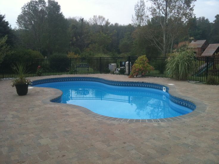 Mountain Lake Shaped Legacy Edition In Ground Pool W/paver Patio And  Bullnose Coping