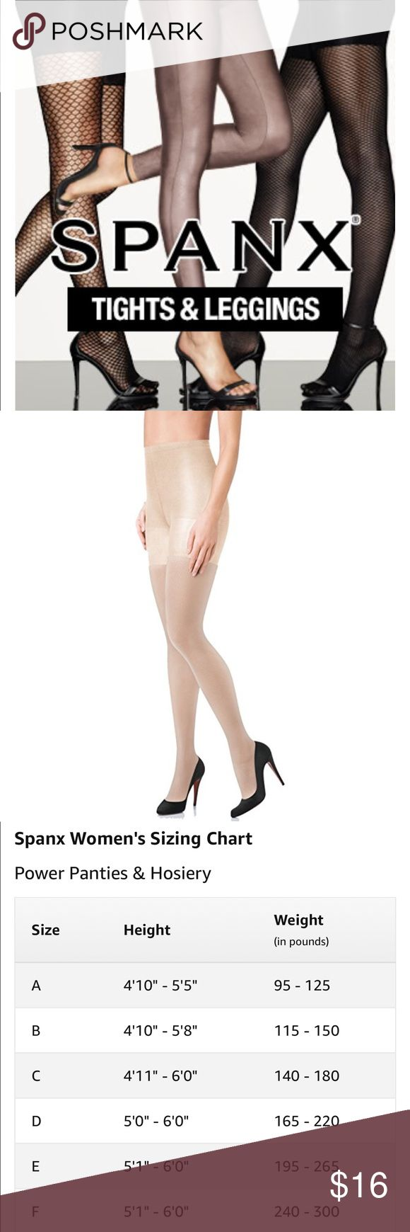 BRAND NEW SPANX TIGHTS FISHNET NUDE SIZE E Brand new in original packaging.  ❤️ SPANX ❤️ Color NUDE Please refer to SIZE CHART for fit details Comes from a smoke free home Bundle & save! SPANX Intimates & Sleepwear Shapewear