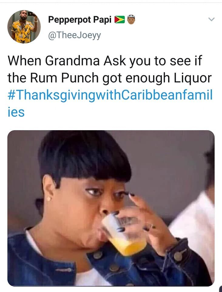 What Does Your Caribbean American Thanksgiving Look Like Socamom Caribbean Twitter Funny Black Memes