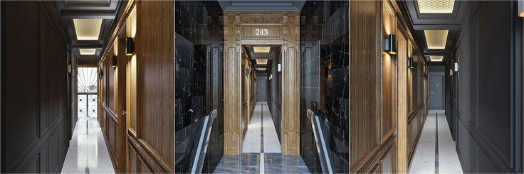 Hallway design. 5-th Ave, NYC