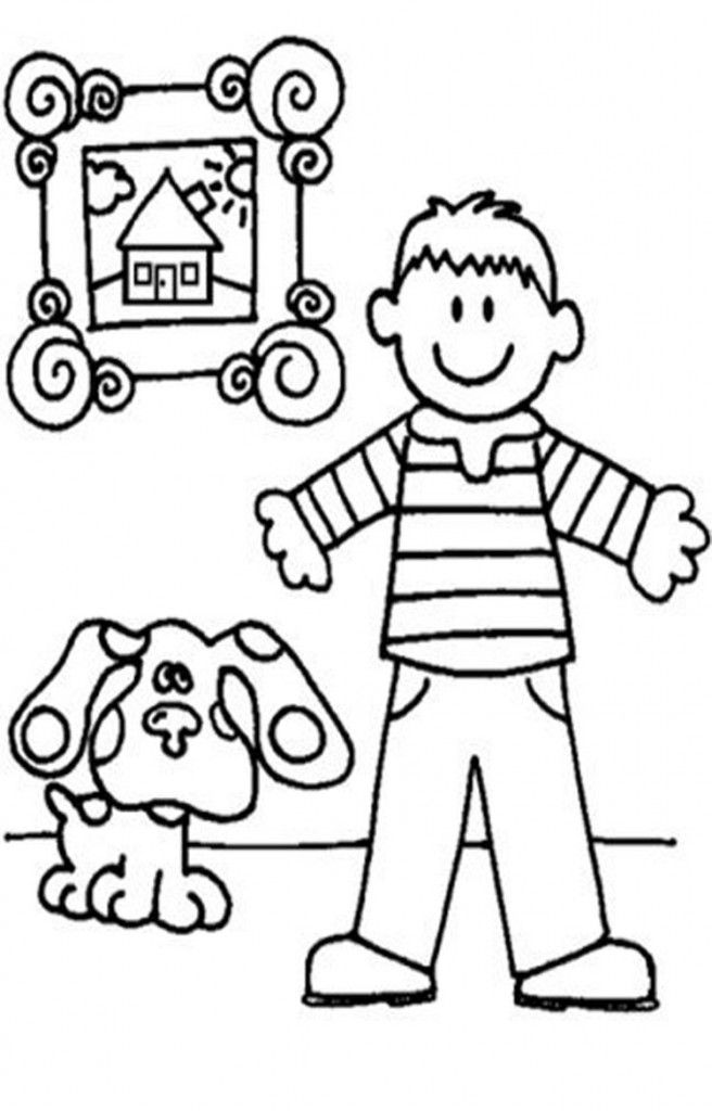 Free Printable Blues Clues Coloring Pages For Kids Coloring Pages For Boys Coloring Pages For Kids Free Kids Coloring Pages