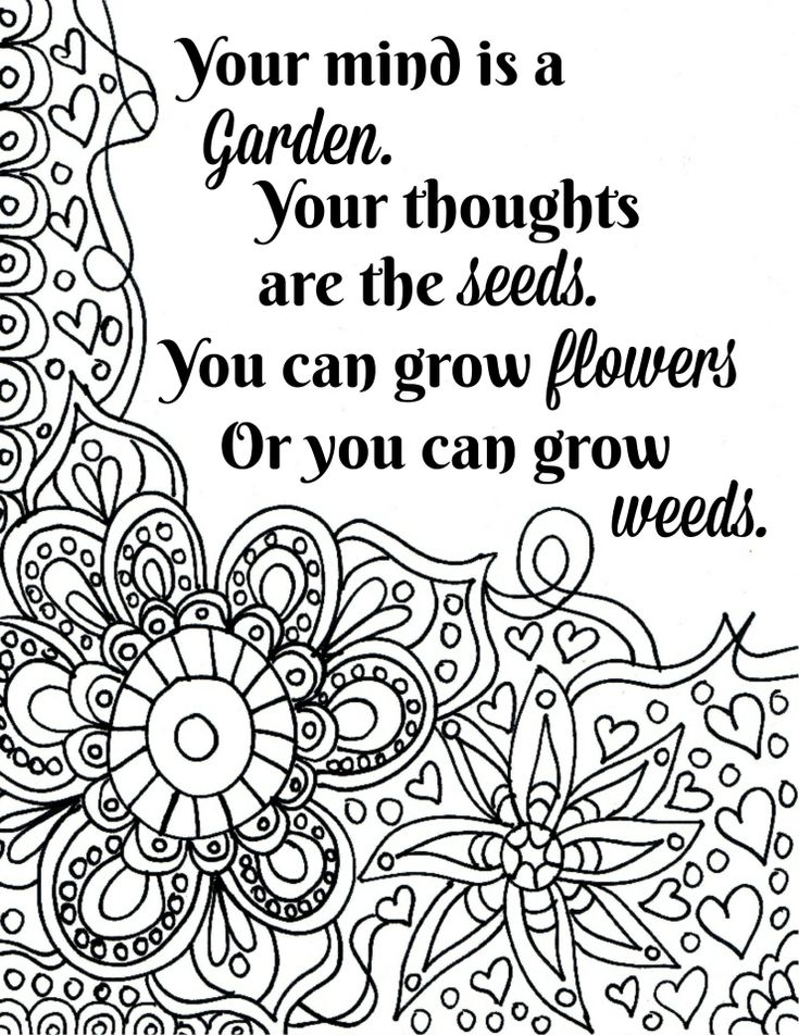 FREE Printable Flower Quote Coloring Pages | Quote ...
