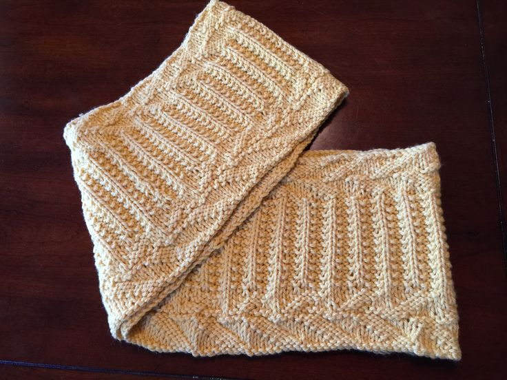 YELLOW COWL    PATTERN NAME:  BOSON COWL