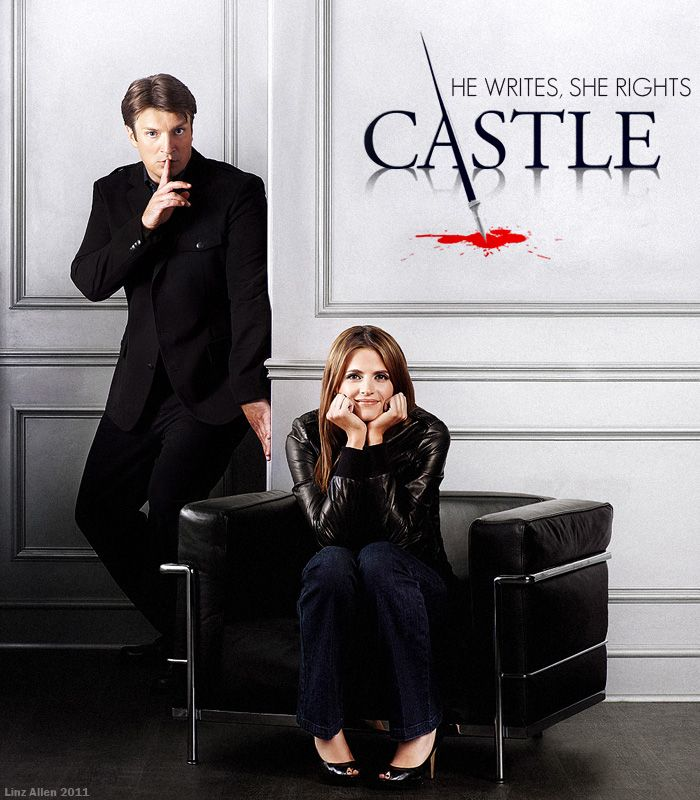 I've loved Castle for a few years now. I knew of Nathan Fillion from BTVS and just followed him into this show. One of my fave crime dramas!  [Fan art poster, not mine]