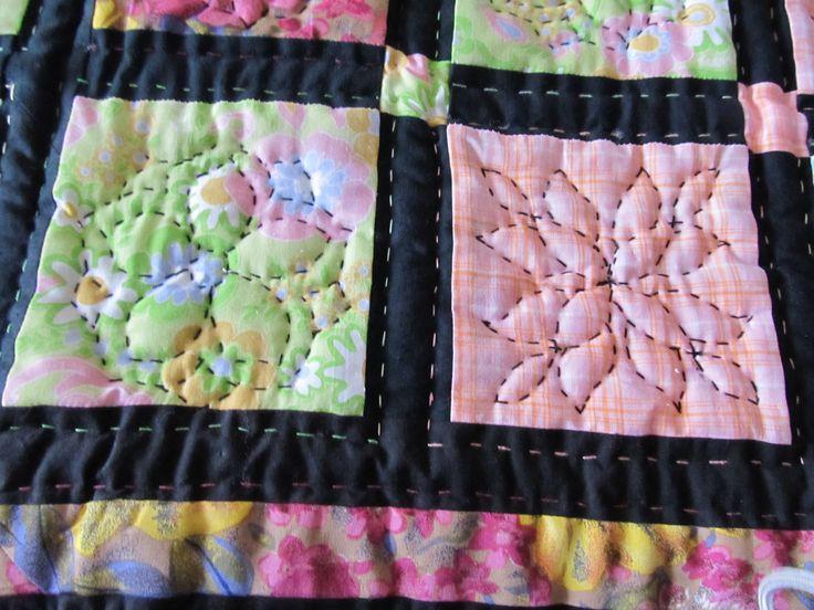 detail deky ze zbytků