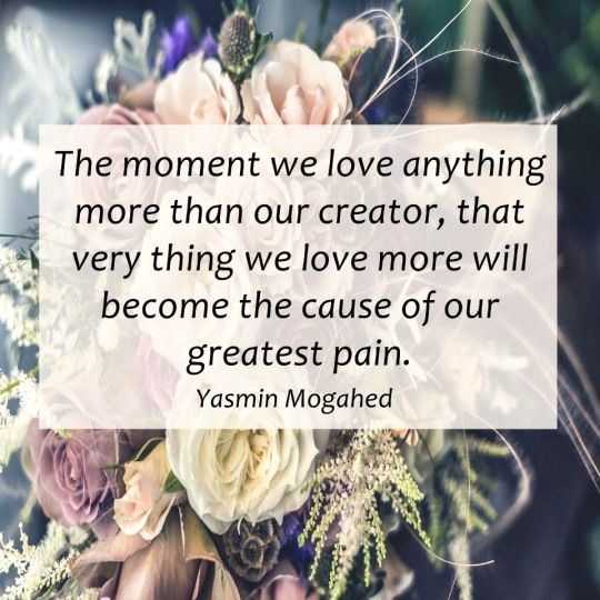 If we love anything more than our creator !