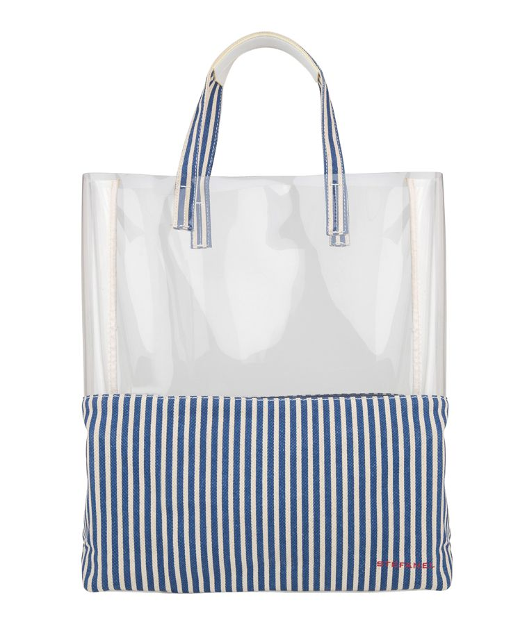 Striped shopper from #Stefanel - perfect for the rainy days
