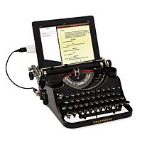 I think I could become a writer or at least write much more if I had this cool little typewriter. Genius! Retro and recycled!