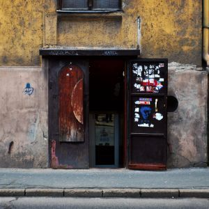 Entrance of a pub