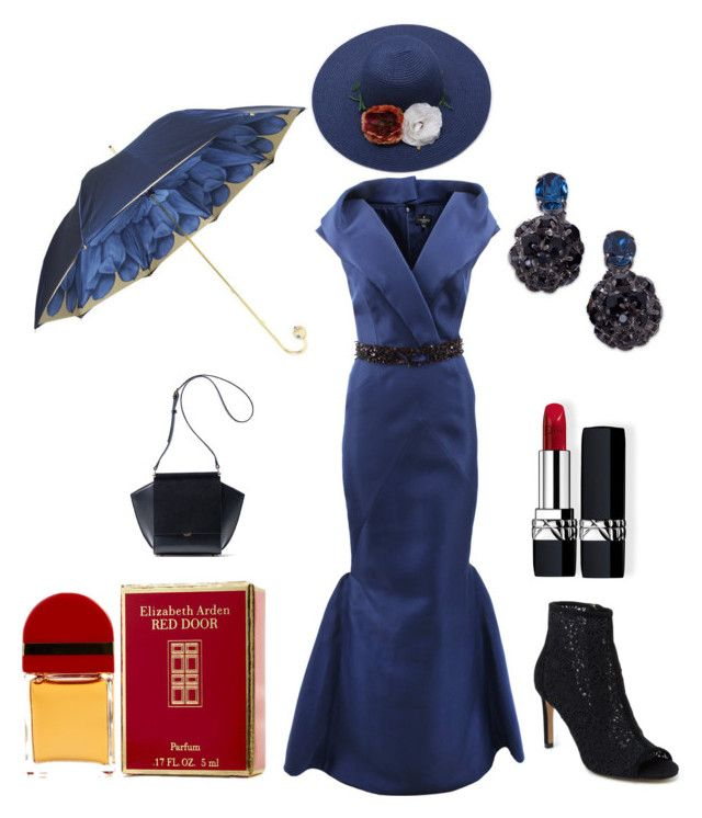 """""""Blue Dress Lady"""" by leesa-jo-schenk ❤ liked on Polyvore featuring J. Mendel, Pasotti Ombrelli, Nanette Lepore, Christian Dior, Elizabeth Arden and Marni"""